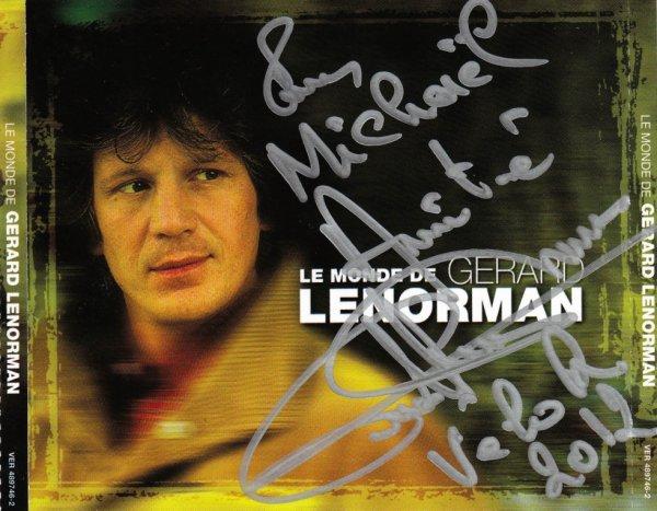 Monsieur GERARD LENORMAN (1945), quelle voix ... et d'une extrème gentillesse, une crème ce gars là.