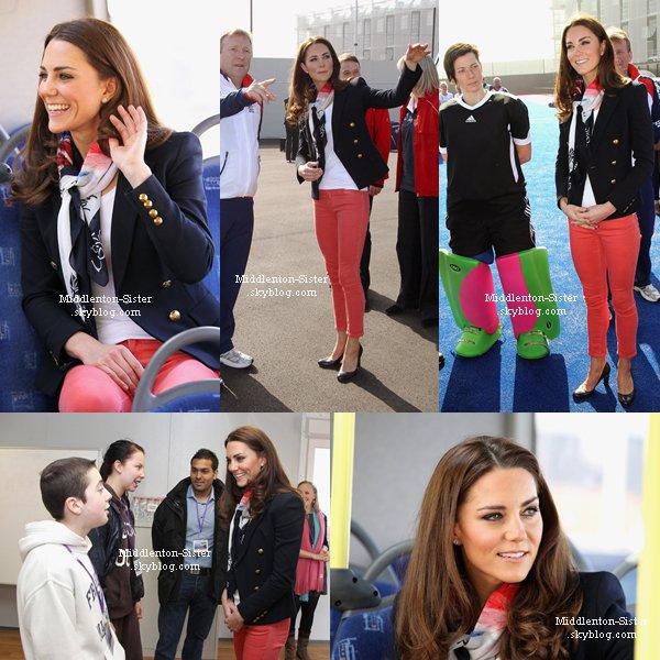 15.03.12:Kate s'est rendue à l'Arena Riverside, sur le site des JO