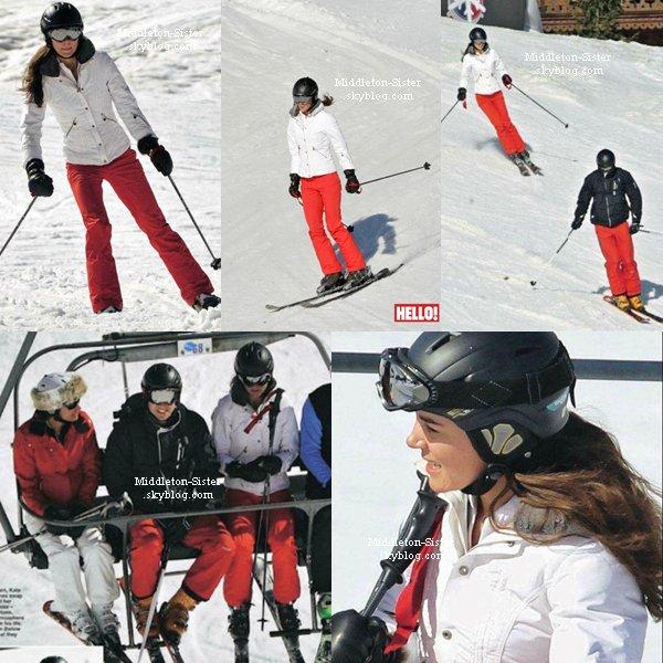 """La famille Middlenton fait la couverture du magazine """"Hello"""" , on y découvre les photos de leur vacances dans la station de ski de Mirebel"""