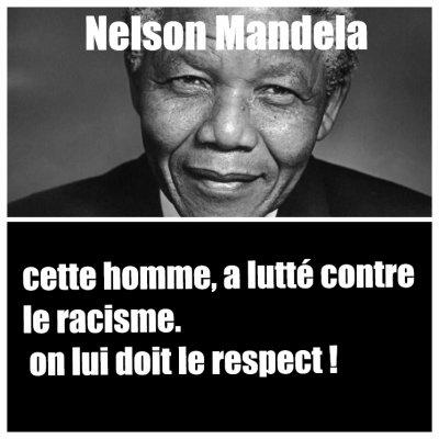 Nelson Mandela , S.T.O.P  AU RACISME !