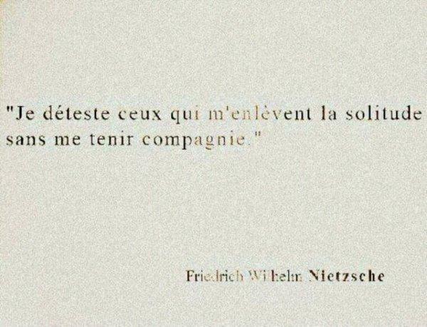 Une petite pause avec Nietzsche