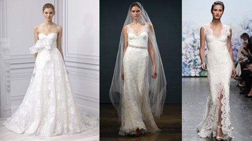 2016 tendance : robes de mariée en dentelle, l'élégance et le confort
