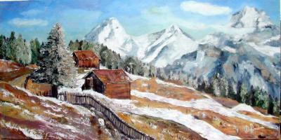 fin d'hiver en montagne
