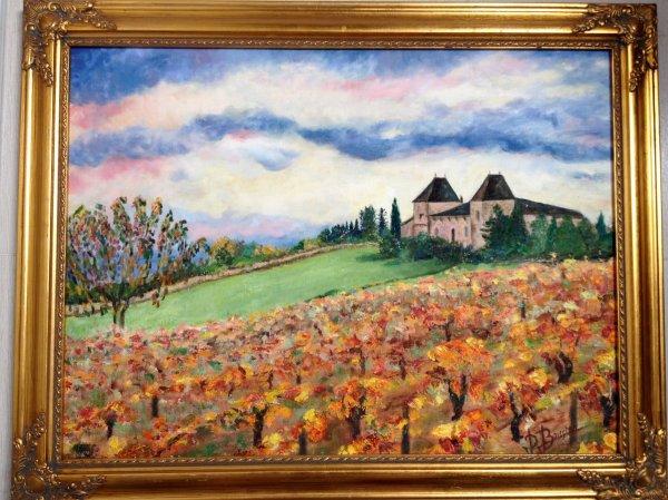 paysage de vignobles français pour nos amis américains