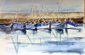 vacances au Croisic 1er carnet de voyage aquarelle
