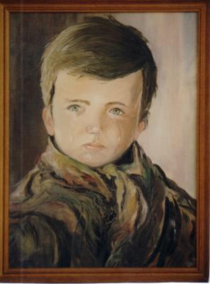 petit garçon qui pleure (reproduction)