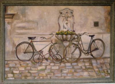La fontaine aux vélos