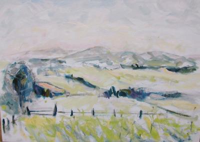 paysage des monts du lyonnais