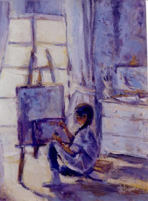 Jeune fille au pinceau