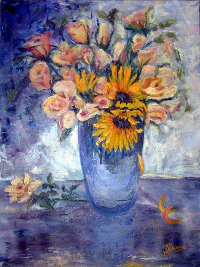 Vase de tournesols