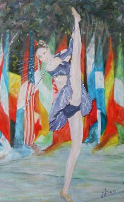 Mondial de twirling bâton: Laure