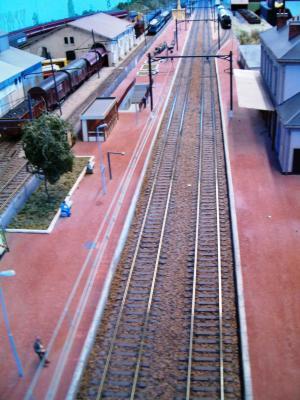 La gare vue d'en haut