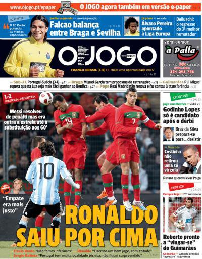 Match amical: Portugal 2-1 Argentine