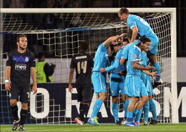 Phase de groupe Ligue des Champions: Zénit St Pétersbourg - Porto