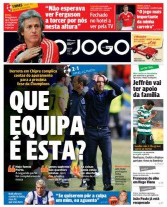 Phase de groupe Ligue des Champions : APOEL FC - FC Porto