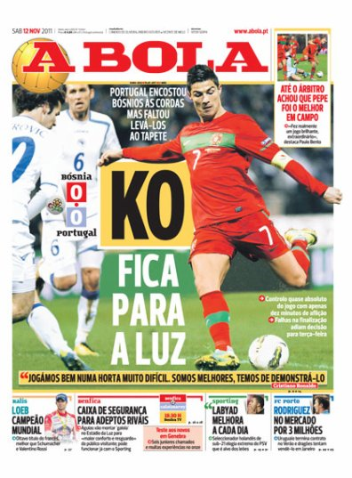 Barrage Euro 2012: Bosnie Herzégovine 0-0 Portugal