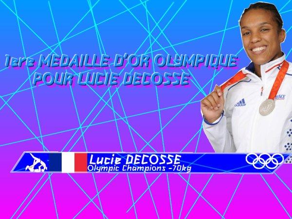 Judo :  Lucie DECOSSE dorée à Londres