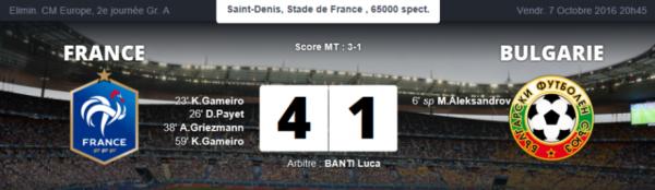 France-Bulgarie (4-1) : Les chiffres à retenir