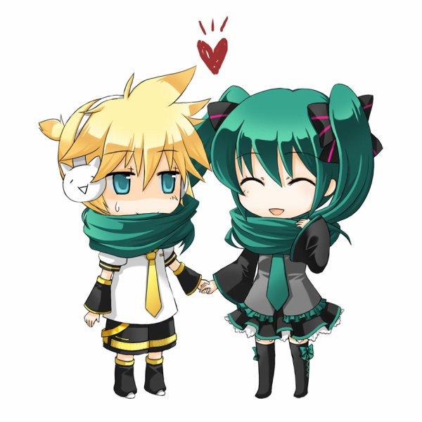 Retouche Miku et Len - PAS TOUCHE