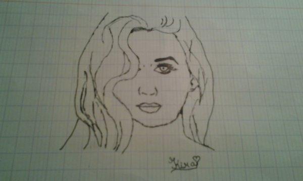 Bon, on ne se moque pas ( --' ), j'ai ESSAYE de dessiner Katty Perry ^^ Vous en pensez quoi ( à part les cheveux que j'ai raté =))