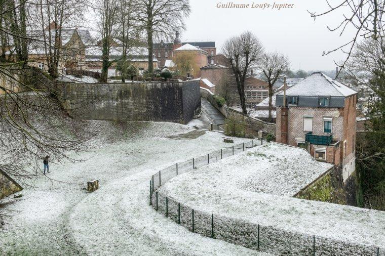 Printanière neige urbaine