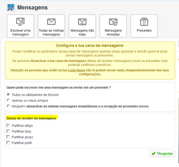 Novidades na configuração da tua caixa de mensagens!