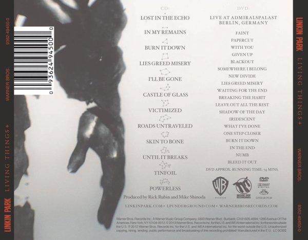 15 Février 2013 : Nouvelles sur le CD/DVD Living Things.