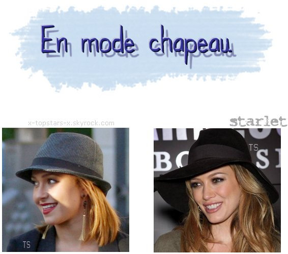 Les stars et leurs chapeaux#85