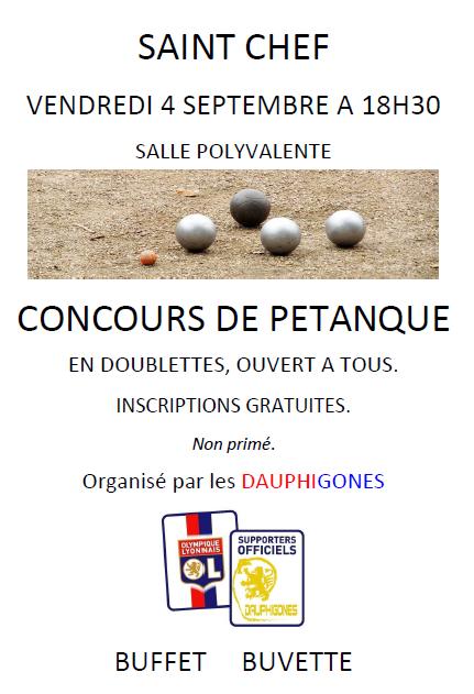 CONCOURS DE PETANQUE