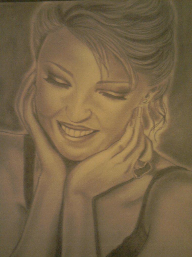portrait de kylie minogue,  pour le sourire
