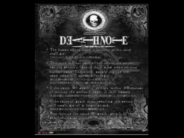 Les règles du Death Note