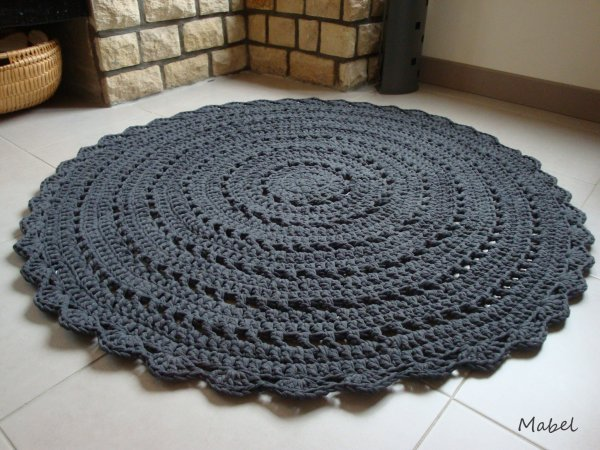 29 tapis hooked gris anthracite rond fait main au crochet 120 cm vous avez besoin d 39 un. Black Bedroom Furniture Sets. Home Design Ideas