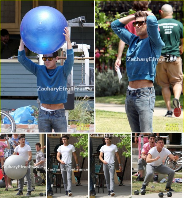 08.05.2013 Zac sur le set de Townies