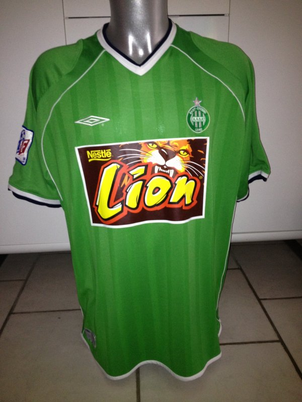 Maillot Saint Etienne Home Coupe de la Ligue 1999-2000 / Alex