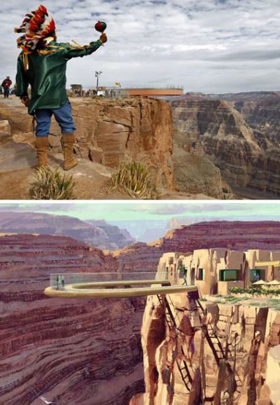 Le Grand Canyon skywalk vu par Béa pour lorraineblog
