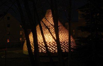 Outdoor fireplace vu par Béa pour lorraine blog