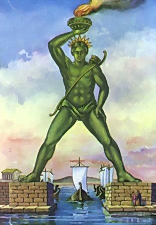Colosse de Rhodes vu par Béa pour lorraineblog