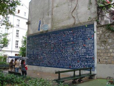 """Le mur des """"Je t'aime"""" vu par Béa pour lorraineblog"""