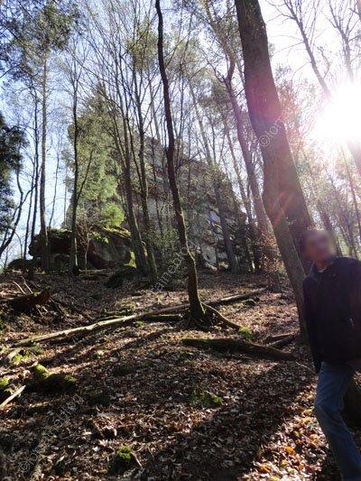 Le château de Waldeck et son rocher vu par Béa pour lorraineblog