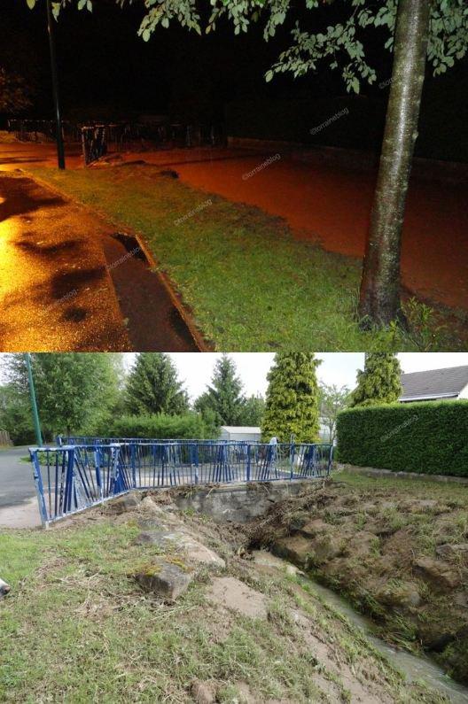 Flash évènement : Inondations à Woustviller _suite_ vu par Béa pour lorraineblog