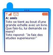 Blague pour SMS lu par Béa pour lorraineblog
