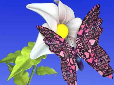 Papillon par Béa pour lorraineblog