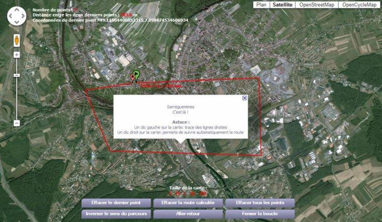 Calcul itinéraire par Béa pour lorraineblog