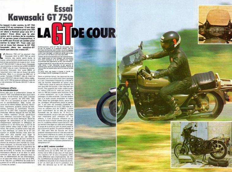 Kawasaki GT 750 vu par Béa pour lorraineblog