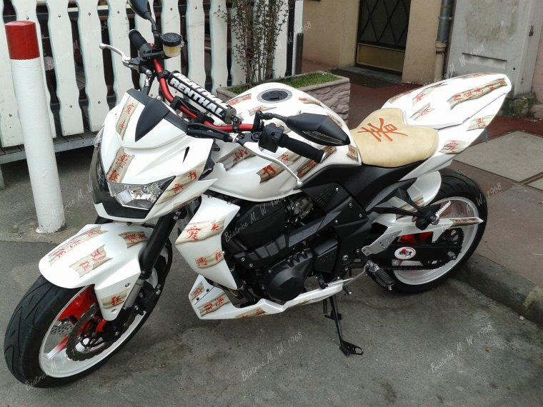 Kawasaki Z750 customisée vu par Béa pour lorraineblog