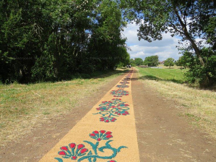¼uvre d'art éphémère à Neufgrange par Béa pour lorraineblog