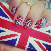 Ongles: Drapeau Britannique