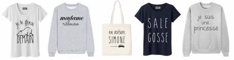 Vêtements à messages