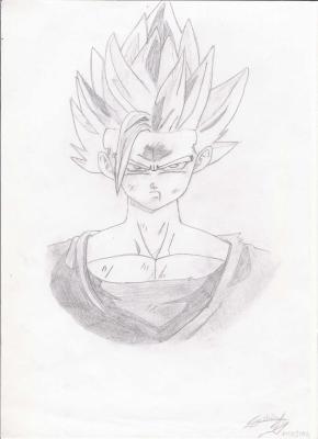 Gohan mes dessins mangas et r aliste - Dessin sangohan ...