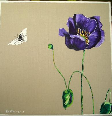 fleur de pavot peinteuse. Black Bedroom Furniture Sets. Home Design Ideas